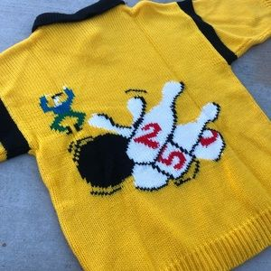 Sweaters - Vintage Yellow Bowler Sweater